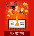 film festival poster vector image vector image