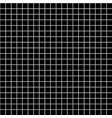 five millimeters square white grid on black vector image vector image