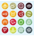 flat icon set - nature flora and fauna vector image vector image