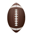 Front View of American Football Isolated vector image vector image