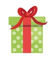 Gift box isolated flat icon design vector image