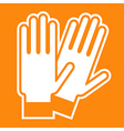 Gloves sign vector image