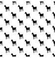 Goat pattern seamless vector image vector image