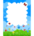 grass on a meadow and blue sky a vector image vector image