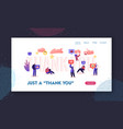 gratitude in internet website landing page vector image vector image