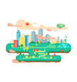 green city flat vector image vector image