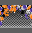 halloween background with halloween ghost vector image