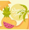 hello summer travel and vacation season vector image
