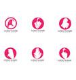 hijab woman silhouette logo and symbols vector image