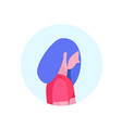 hipster woman profile isolated avatar female vector image
