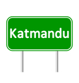 Katmandu road sign vector image vector image