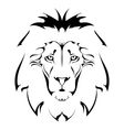 Lion head Tattoo vector image vector image