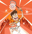 Male Badminton Player vector image