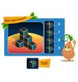many blocks game vector image