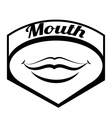 Mouth design vector image vector image