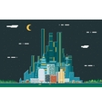 Night Urban Landscape City Real Estate Summer vector image vector image