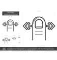 One-finger horizontal scroll line icon vector image