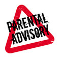 parental advisory rubber stamp vector image