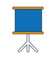 presentation board icon vector image vector image