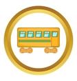 Rail car icon vector image vector image