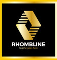 rhomb line logotype vector image