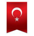 Ribbon banner - turkish flag vector image vector image