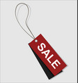 sale price tag in dark red color vector image vector image
