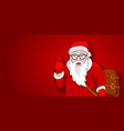 santa new style on red background template vector image