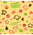 seamless pattern with artistic geometric elements vector image