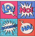 set comics bubbles in pop art style vector image vector image