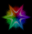 Star Multicolored mosaic vector image vector image