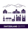 switzerland travel destination vector image vector image