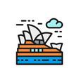 sydney opera house australia landmark vector image vector image