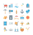 Travel and Tourism Colored Icons 3 vector image vector image