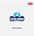 Two color game console icon from electronic