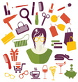 WOMAN GIRLS STUFF1 resize vector image vector image