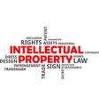 word cloud intellectual property vector image vector image