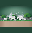 world elephant day vector image vector image