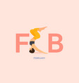 yoga pose or asana posture for february banner vector image vector image