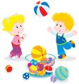 Ball game vector image