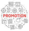 line flat circle promotion vector image