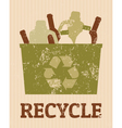 recycle poster vector image