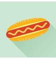 Hot Dog Flat Icon vector image