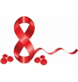 8 March symbol of red ribbon vector image