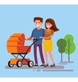 Cute smiling couple vector image