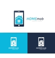 house and phone logo combination Real vector image