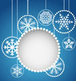 Abstract christmas balls with ornament vector image vector image