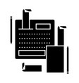 accounting system icon sig vector image