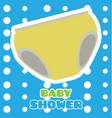 baby shower card with underwear vector image vector image
