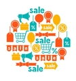 Background with sale and shopping icons design vector image vector image
